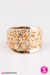 Paparazzi ♥ Bay Breeze - Gold ♥ Ring
