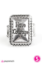 Load image into Gallery viewer, Paparazzi ♥ Have Courage - Silver ♥  Ring
