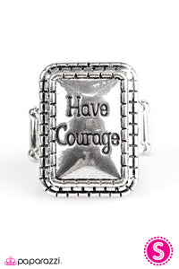 Paparazzi ♥ Have Courage - Silver ♥  Ring