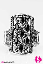 Load image into Gallery viewer, Paparazzi ♥ Let Me Adjust My Crown - Black ♥  Ring