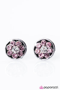 Paparazzi ♥ Go With The FLORAL - Pink ♥ Post Earrings