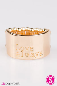Paparazzi ♥ Love Always - Gold ♥ Ring