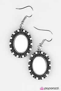 Paparazzi ♥ The Sun Is Up - White ♥ Earrings