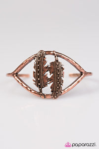 Paparazzi ♥ One Wild FLIGHT - Copper ♥ Bracelet