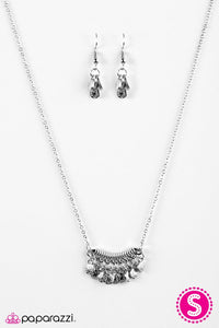 Paparazzi ♥ ROME For The Holidays - Silver ♥ Necklace