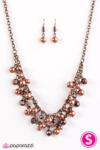 Paparazzi ♥ Timeless Class - Copper ♥ Necklace