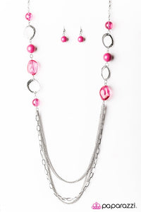 Paparazzi ♥ Sassy and Glassy - Pink ♥ Necklace