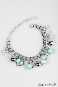 Paparazzi ♥ Hall Of FRAME - Blue ♥ Bracelet