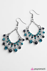 Paparazzi ♥ Hey, Glitter Glitter - Blue ♥ Earrings