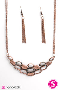 Paparazzi ♥ Queen Of The Hive - Copper ♥  Necklace