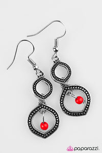 Paparazzi ♥ Dancing Genie - Red ♥ Earrings