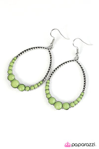 Paparazzi ♥ Tears of My Enemies - Green ♥  Earrings