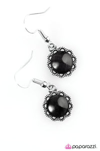 Paparazzi ♥ No Place Id Rather BEAM - Black ♥ Earrings