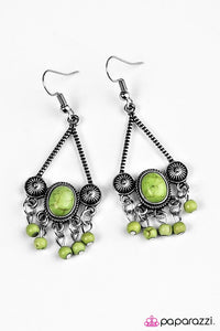 Paparazzi ♥ Wild and Wonderful - Green ♥ Earrings