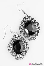 Load image into Gallery viewer, Paparazzi ♥ Sicily Sparkle -  Black ♥ Earrings