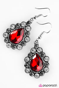 Paparazzi ♥ Release Your Inner Sparkle - Red ♥ Earrings