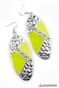 Paparazzi ♥ The Coast Is Clear! - Green ♥ Earrings