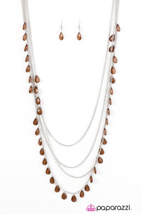 Paparazzi ♥ Summer Showers - Brown ♥ Necklace