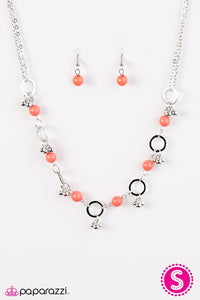 Paparazzi ♥ SHORE As The Wind Blows - Orange ♥ Necklace