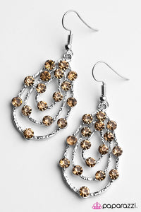 Paparazzi ♥ Tempting Tempest - Brown ♥ Earrings