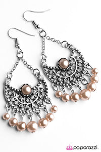 Paparazzi ♥ Opulent Orchards - Brown ♥ Earrings