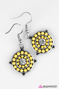 Paparazzi ♥ One Step Closer To Summer - Yellow ♥ Earrings