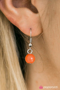 Paparazzi ♥ Vintage Vindication - Orange ♥ Necklace