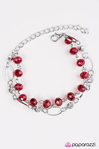 Paparazzi ♥ Rich Beyond Your GLITZY-est Dreams - Red ♥ Bracelet
