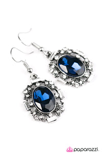 Paparazzi ♥ Timelessly Titanic - Blue ♥  Earrings