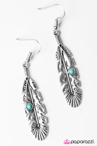 Paparazzi ♥ Its Never Too Late To Fly - Blue ♥  Earrings