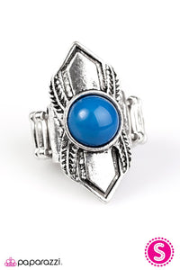 Paparazzi ♥ BEAD Courageous - Blue ♥ Ring