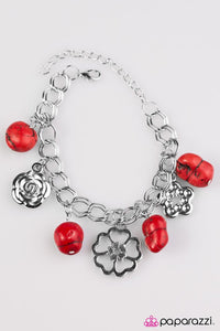 Paparazzi ♥ Rock Garden - Red ♥ Bracelet