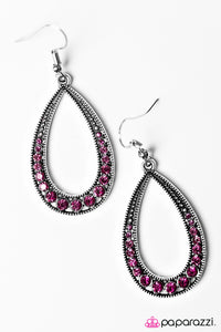 Paparazzi ♥ Cloudy With A Chance of SPARKLE - Pink ♥  Earrings