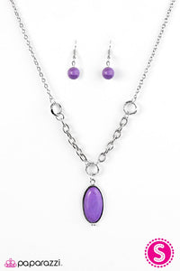 Paparazzi ♥ Find Me Where The Wild Things Are - Purple ♥ Necklace