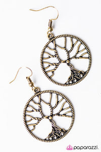 Paparazzi ♥ I WILLOW Survive - Brass ♥ Earrings
