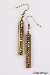 Paparazzi ♥ Its The Climb - Brass ♥ Earrings