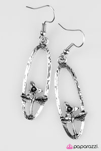 Paparazzi ♥ Thinking Of Tulips - Silver ♥  Earrings