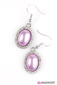 Paparazzi ♥ Timelessly Tampa - Purple ♥ Earrings