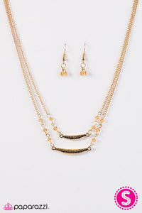 Paparazzi ♥ Tropical Getaway - Gold ♥ Necklace