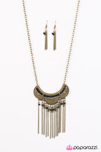 Paparazzi ♥ Tribal Fusion - Brass ♥  Necklace
