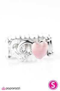 Paparazzi ♥ Light Up My Heart - Pink ♥ Ring