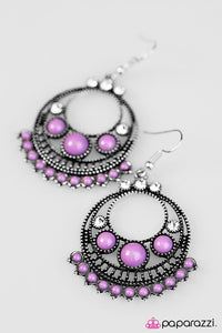 Paparazzi ♥ Dont Give A GLAM - Purple ♥ Earrings