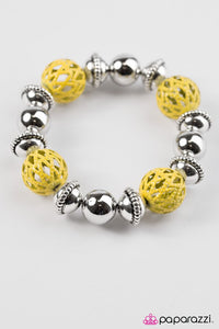 Paparazzi ♥ Summer Sailing - Yellow ♥ Bracelet