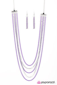 Paparazzi ♥ The Rebel In Me - Purple ♥ Necklace