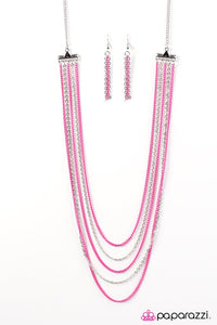 Paparazzi ♥ The Rebel In Me - Pink ♥ Necklace