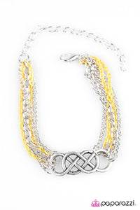 Paparazzi ♥ Colorful Collaboration - Yellow ♥ Bracelet