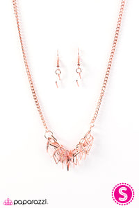 Paparazzi ♥ Beast Mode - Copper ♥  Necklace
