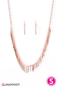 Paparazzi ♥ Shes A Beast - Copper ♥ Necklace