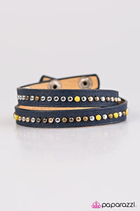 Paparazzi ♥ Cowgirl Up - Blue ♥ Bracelet