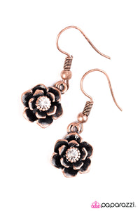 Paparazzi ♥ Where The Flowers Bloom - Copper ♥  Earrings